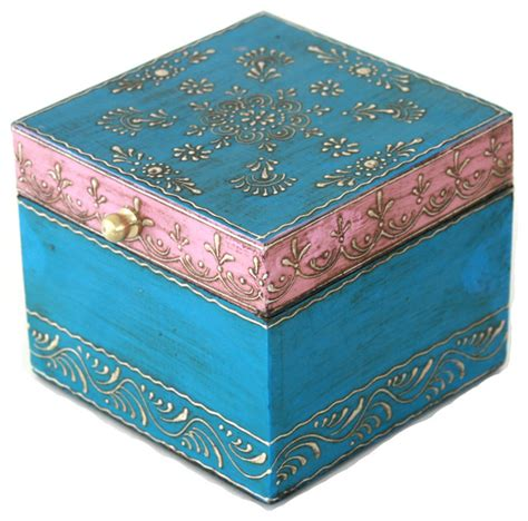 Unique Bedroom Painting Ideas wooden hand painted jewelry box in a beautiful pink and