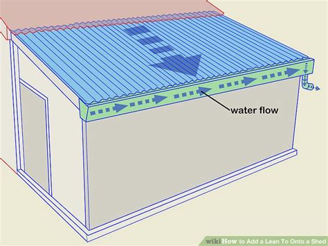 Add A Lean To Onto A Shed by 6 Ways To Add A Lean To Onto A Shed Wikihow