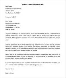 Letter Of Agreement Termination Sle Contract Termination Letter Template 17 Free Sle