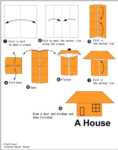 Origami Paper House - house easy origami for