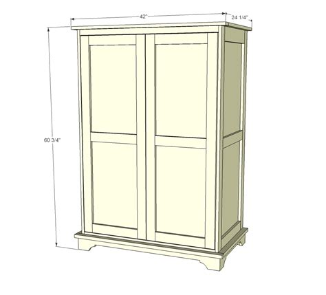 diy armoire closet ana white toy or tv armoire diy projects