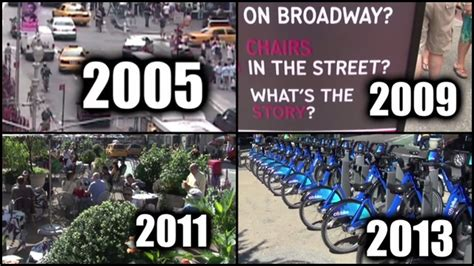 Silplate New City 2005 amazing nyc streets transformation between 2005 2013 rtm rightthisminute