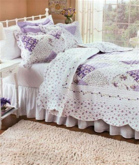 Lavender Patchwork Quilt - lavender patchwork quilt set king country shams
