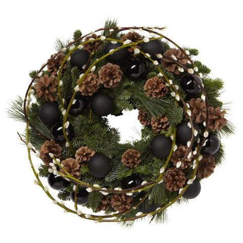 black christmas wreath