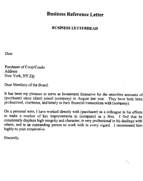 Business Letter Of Reference For Apartment business reference letter for apartment for free