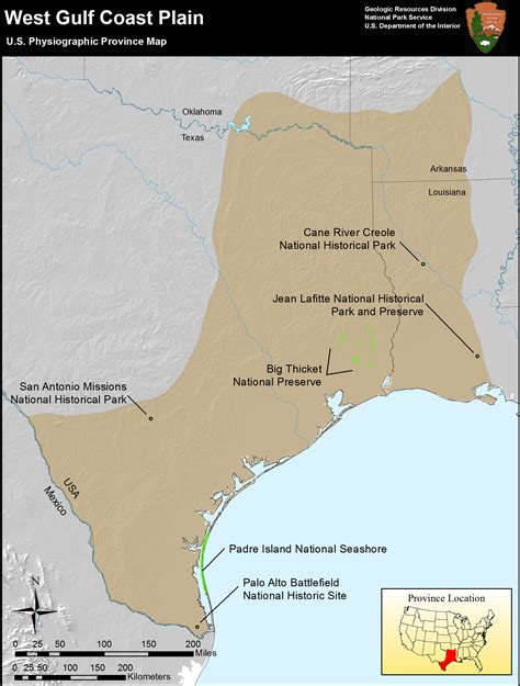 texas coastal plains map nps explore nature 187 geologic resources 187 education 187 concepts