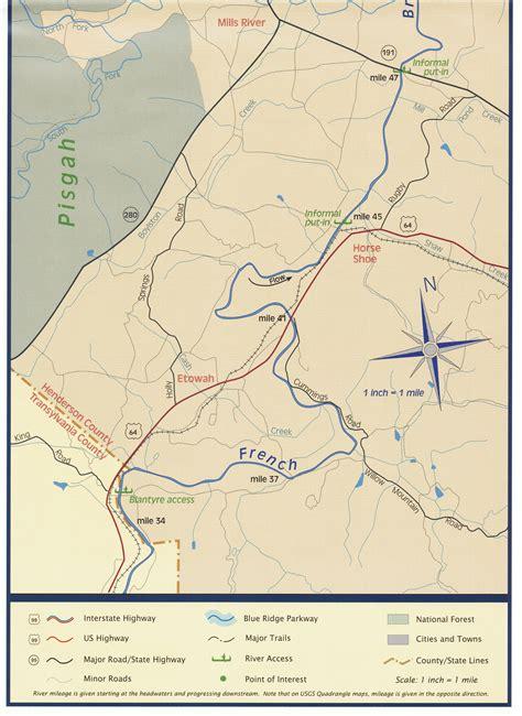 broad river map broad river mountains land etowah nc heritage