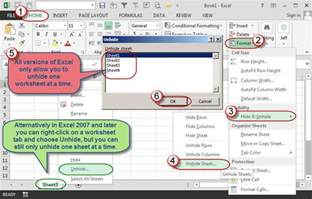 How To Select Sheets by Hide And Unhide Multiple Excel Worksheets Accountingweb