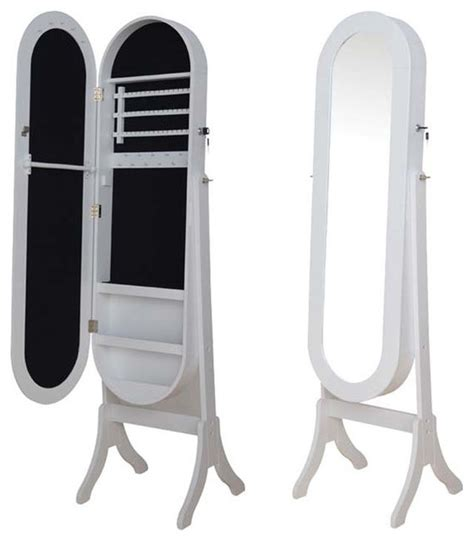 marquee mirror over the door jewelry armoire adarn inc white black oval jewelry armoire wardrobe