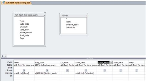 format date field in access query how to query in access gallery how to guide and refrence