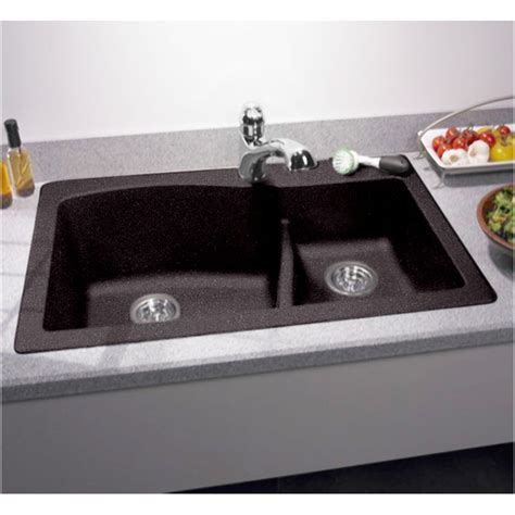 Swanstone Undermount Sinks by Swanstone Qzls 3322 077 Nero 33 Quot X22 Quot Undermount Kitchen