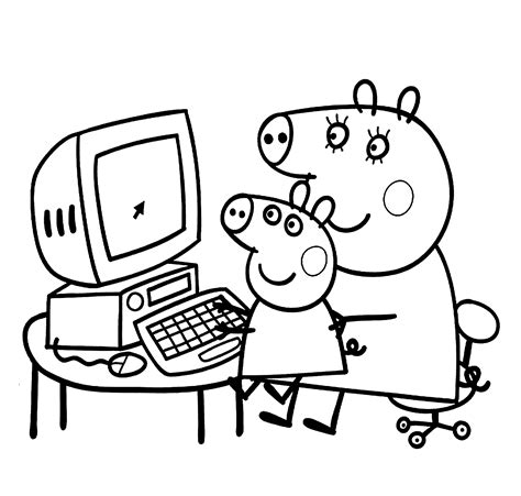 free coloring pictures peppa pig free peppa pig prints coloring pages