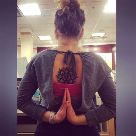 tattoo yoga girl best 25 mandala tattoo back ideas on pinterest mandala