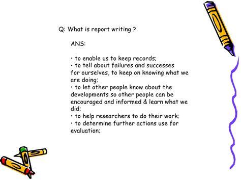 short report presentation