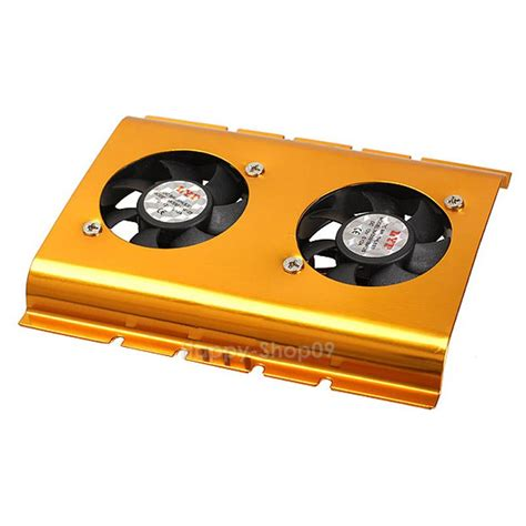 Harddisk Cooler dual 3 5 quot drive disk hdd 4 pin cooling fan cooler