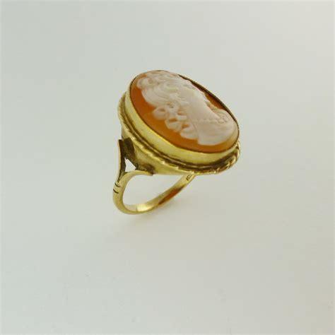 antiques atlas 9ct gold antique cameo ring