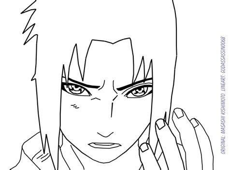 does doodle draw sasuke uchiha lineart by godassassin0068 on deviantart