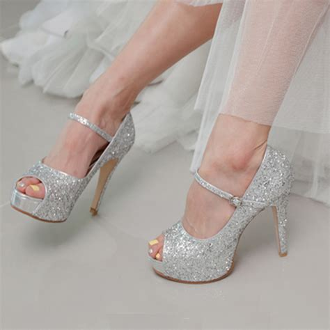 popular high heels popular 3 inch silver glitter heels buy cheap 3 inch