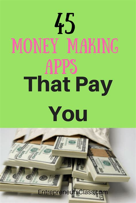 Online Money Making Apps - 50 money making apps that pay you for using them in 2017
