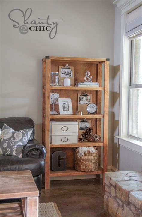 bookcase diy diy pottery barn inspired bookcase shanty 2 chic