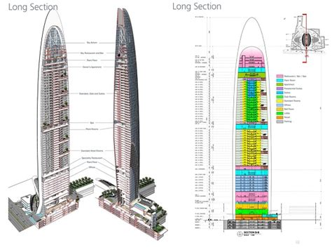 Willis Tower Floor Plan by Mumbai S Namaste Tower Resembles Two Henna Covered Hands