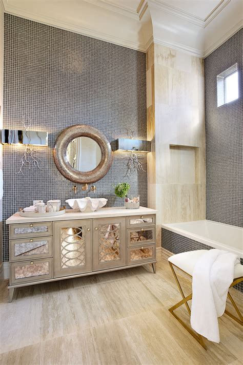 mirrored vanity bathroom hot for 2016 decorating your bathroom in silver hues