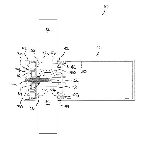 pressure plate curtain wall patent us8578671 pressure plate assembly for curtain