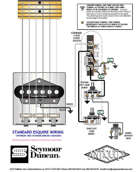 wiring diagram fender esquire guitar wiring diagram with