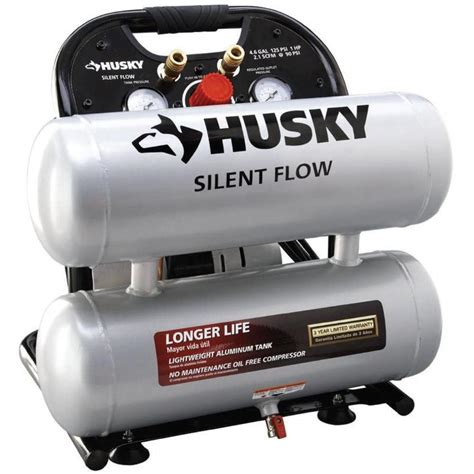 husky reconditioned 4 6 gal portable electric air compressor 4610a the home depot