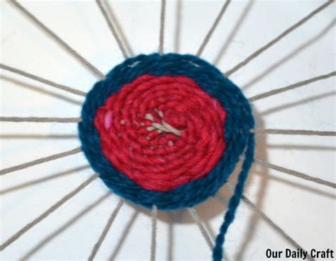 Paper Plate Weaving Craft - paper plate weaving craft challenge day 33 our daily