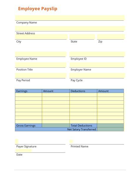 5 basic payslip template word salary slip basic payslip template