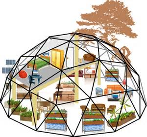 Mini double inside aquaponics color panels brown geodesic dome kits on