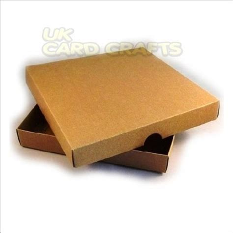 Boxes For Handmade Cards - 4 x brown kraft 6x6 square boxes for handmade greeting cards