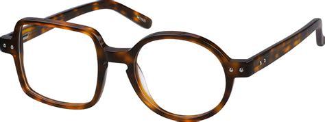 Bridge Square Glasses gray square eyeglasses frame 44119 zenni