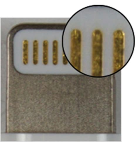 Connector Conector Konektor Charger Iphone 5s identify counterfeit or uncertified lightning connector