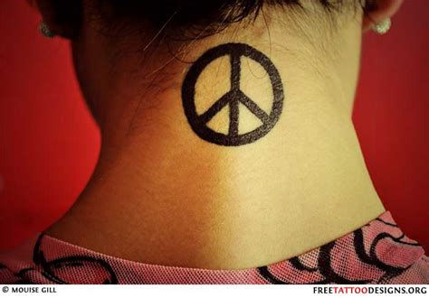 small peace sign tattoo 50 peace sign tattoos