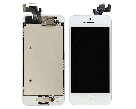 Lcd Iphone 5 Tanpa Touchscreen white lcd lens touch screen display digitizer assembly