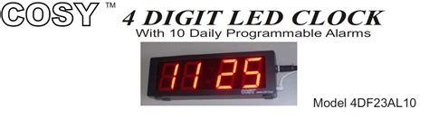 10 daily programmable alarms led clock for schools factories