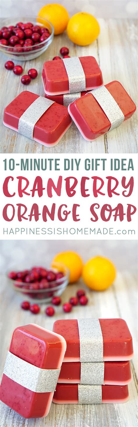 10 minute diy cranberry orange soap happiness is homemade