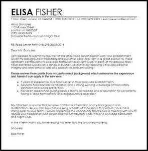 cover letter for food service sle food service cover letter reportspdf819 web fc2