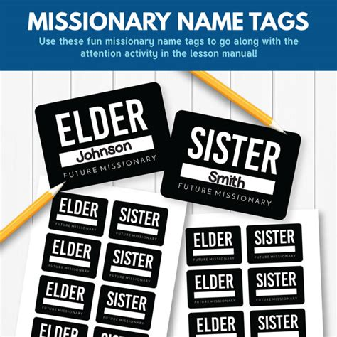 printable missionary tags choose the right b lesson 24 the lord helps