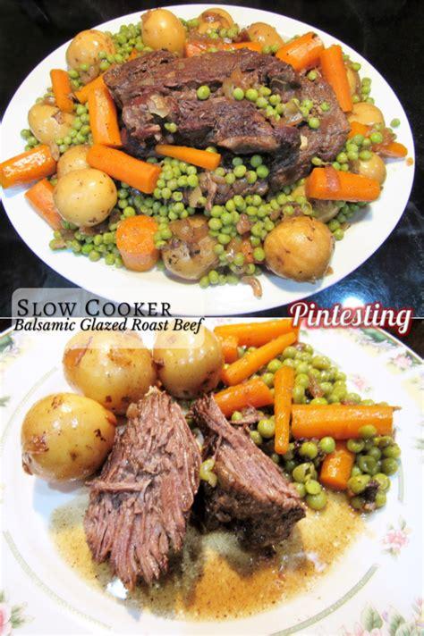 balsamic roast beef in oven slow cooker balsamic glazed roast beef pintesting