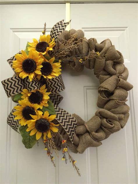 Sunflower Door Wreath by 25 Best Ideas About Sunflower Wreaths On