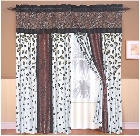 leopard print curtains and bedding new luxury drapes valance flocking window paisley leopard