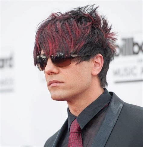 mens hairstyles red highlights black hair red highlights men www pixshark com images