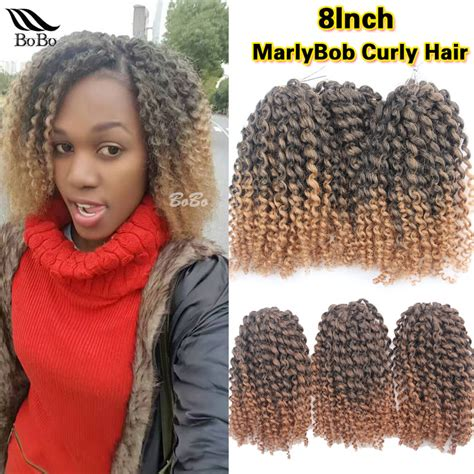 Ombre Marley Hair Purple | 3pcs pack marlybob curly crochet hair purple pink short