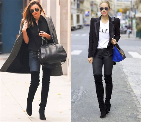how to wear thigh high boots and denim eat sleep denim