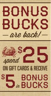 Joes Crab Shack Gift Card - gift card deals with macaroni grill and joe s crab shack my crazy savings