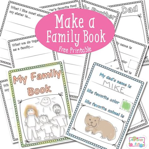 family pictures book family book free printable itsy bitsy