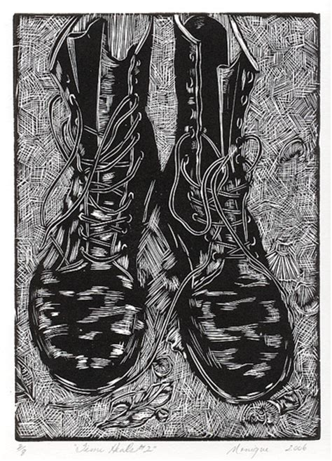 Black And White Wood linocuts